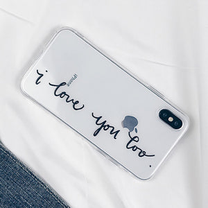 Lover Letter Print Phone Case For iPhone