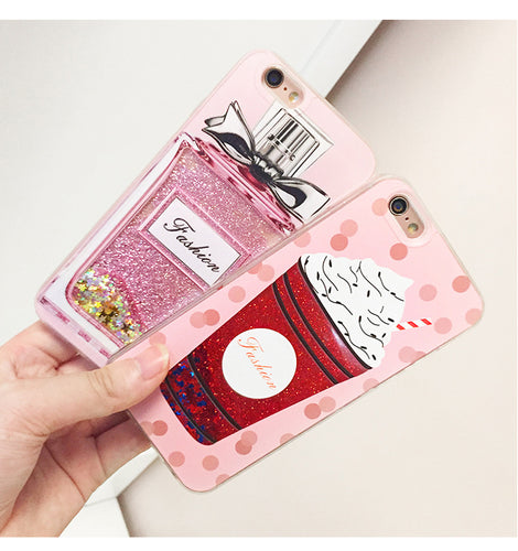 Perfume Bottle Cream Case For iPhone