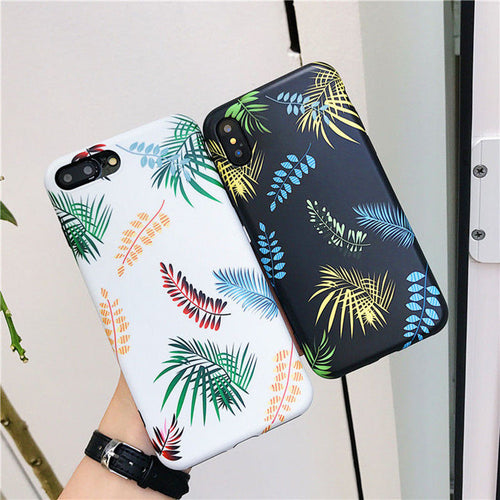 Tropical Plants Phone Case For iPhone
