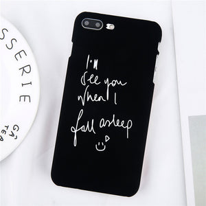 Black iPhone Case with Text