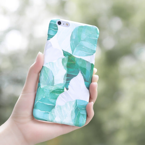 Tropical Green Leaves Phone Case For iPhone