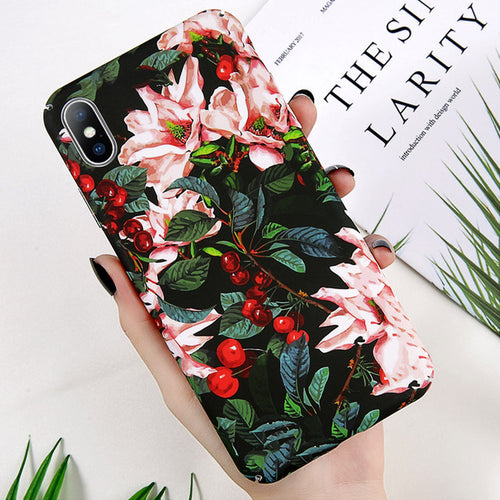 Flower Painted Phone Case For iPhone