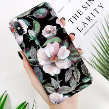 Load image into Gallery viewer, Flower Painted Phone Case For iPhone