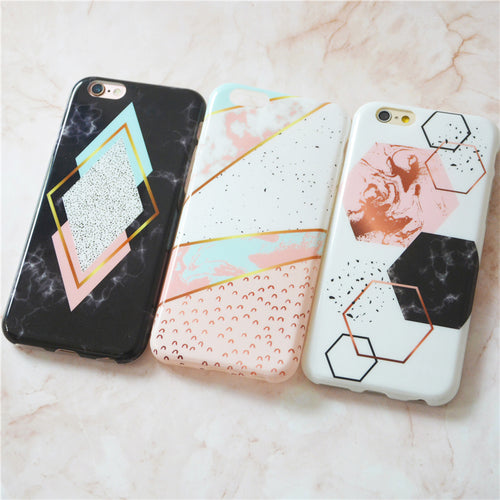 Glamorous Marble Print iPhone Case
