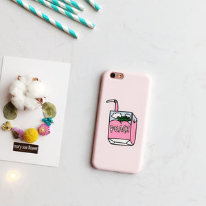 iPhone Case with Drink Design