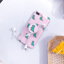 Load image into Gallery viewer, Pink Dinosaur iPhone Case
