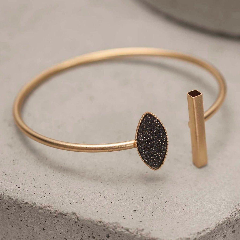 Gold Thin Open Cuff  Bracelet, Dainty Leaf Bracelets For Women, Trendy Bracelets
