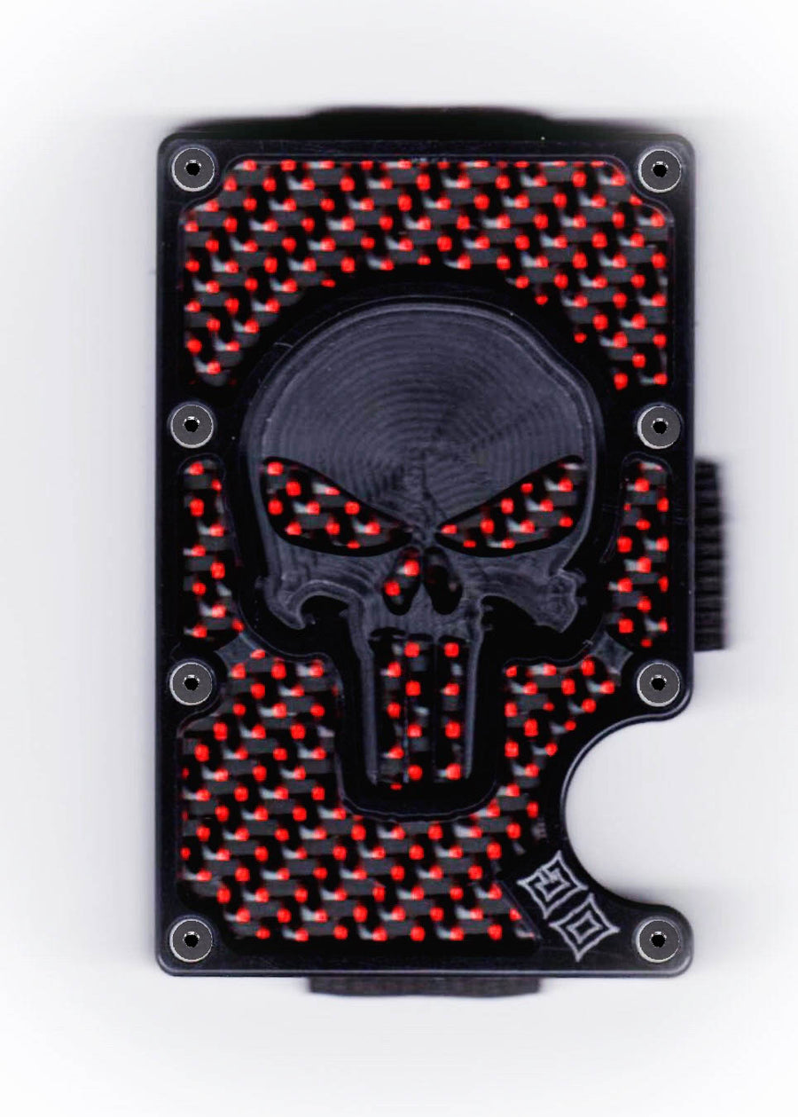 Vengeance - Stealth Skeleton GOAT - Black Polymer Skeleton & Colored Carbon Fiber Wallet
