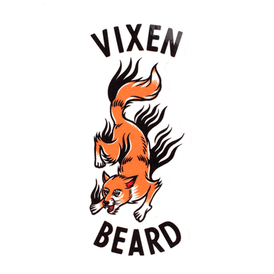 Vixen & Beard Stalking Fox Sticker