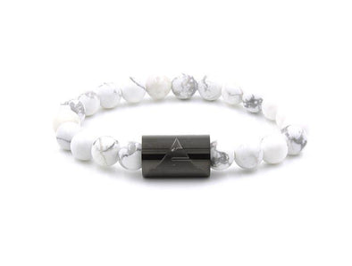 Everwood Rocky - White Howlite Bracelet