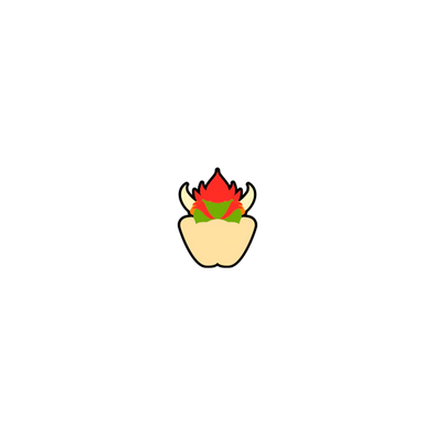 Pin Plugged Smash Stock - Bowser