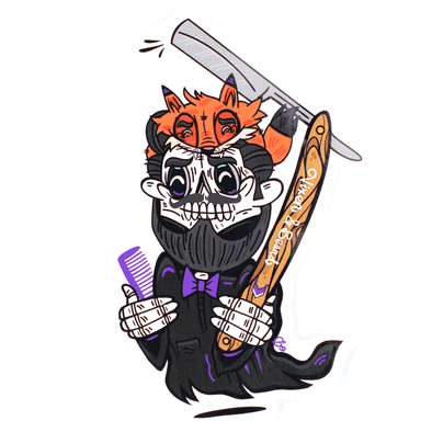 Vixen & Beard Reaper Sticker