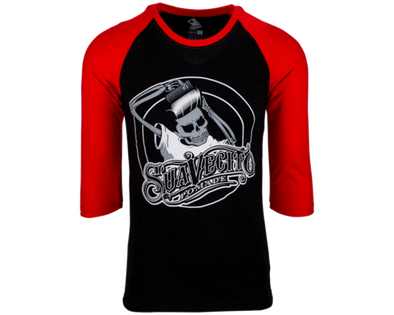 Suavecito OG Baseball Tee - Black & Red