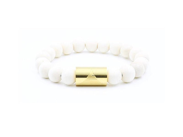 Everwood Solid 10 - White Wood Bracelet