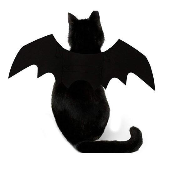 Cat Cosplay Costume Black Bat Wing Halloween Party