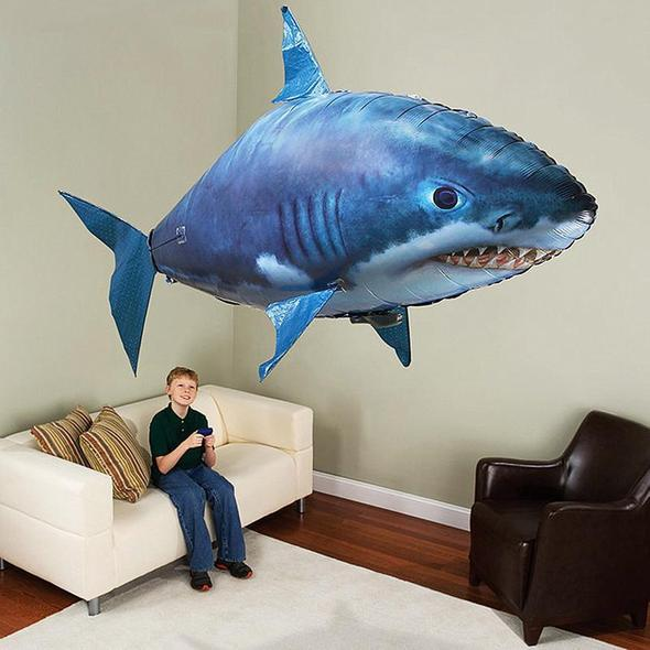AIR SWIMMERS REMOTE CONTROL FLYING SHARK - [BEST GIFT]