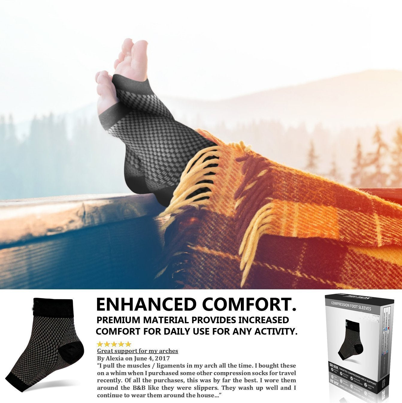Plantar Fasciitis Socks, Compression Foot Sleeves - SOGO-LIFE