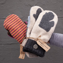 Load image into Gallery viewer, Recycled Sweater Mittens