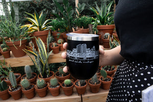 Grand Rapids Skyline Wine Tumbler