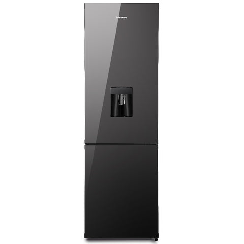 Hisense H360BMI-WD Black Mirror Fridge with Water Dispenser