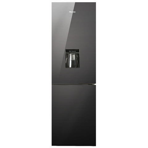 Hisense H420BMI-WD Black Mirror Fridge with Water Dispenser