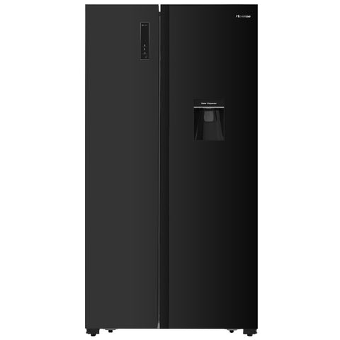 Hisense H670SMIB-WD Black Mirror Fridge with Water Dispenser
