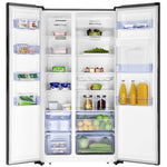 Hisense H700SS-IDB Black Stainless Steel Fridge with Water and Ice Dispenser