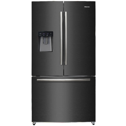 Hisense H720FSB-WD Black Stainless Steel Fridge with Water Dispenser