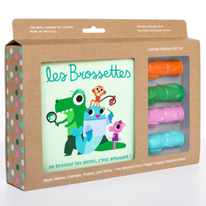 The Brushies Gift Set - Les Brossettes - Now Available in French