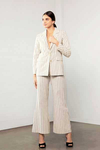 ENCHANT STRIPE LINEN JACKET