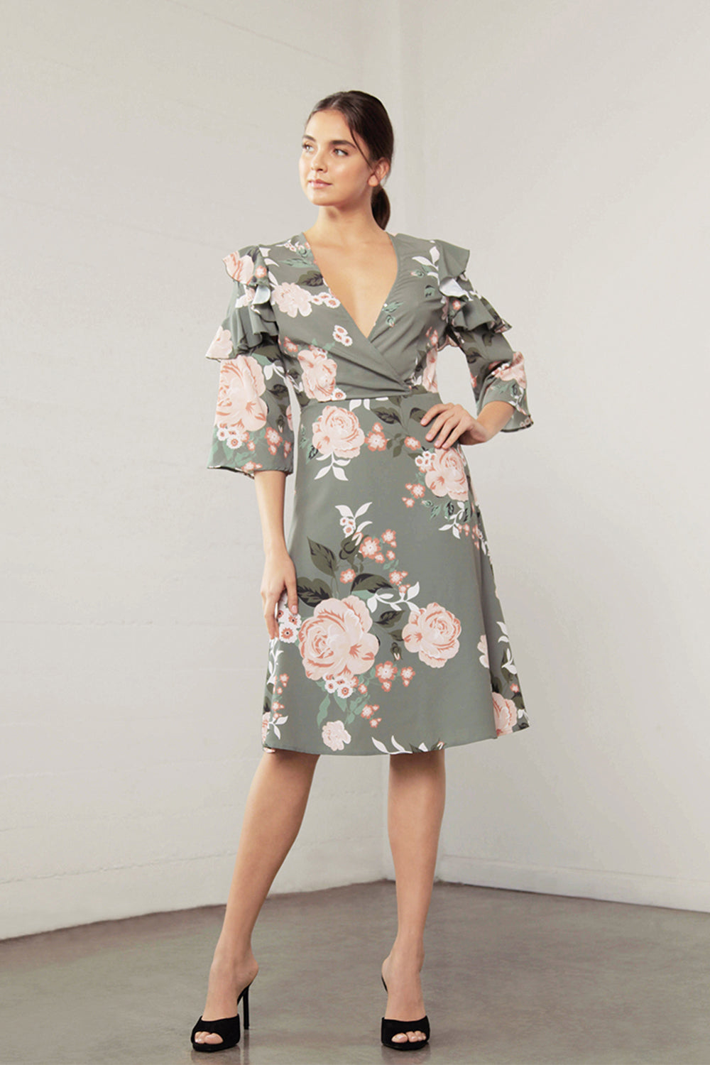 ENCHANT FLORA MIDI DRESS