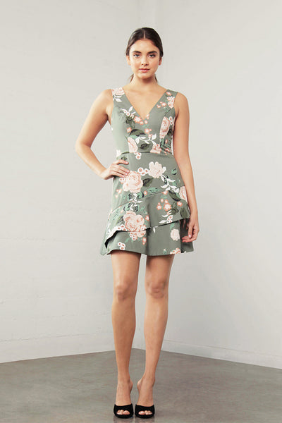ENCHANT FLORA FLARE DRESS