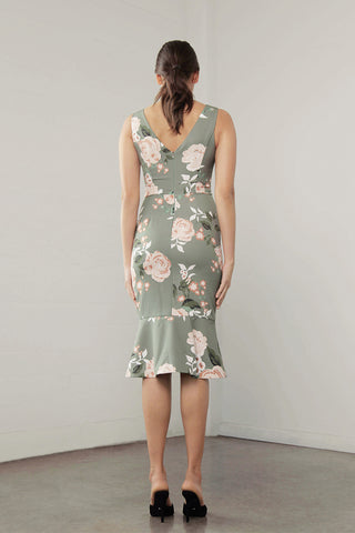 ENCHANT FLORA RUFFLE DRESS