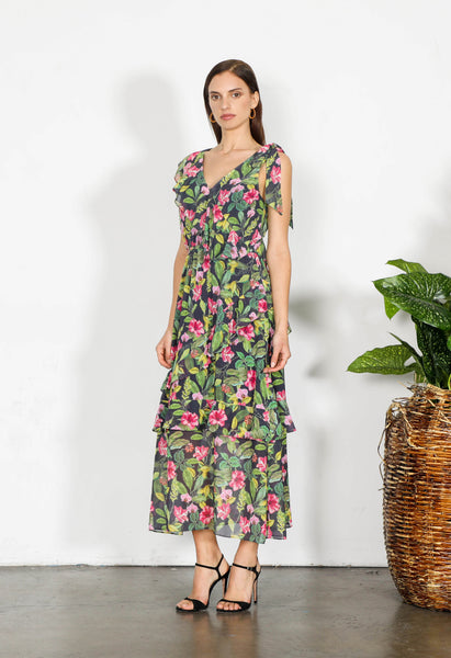 ELEMENT FLORAL LONG DRESS