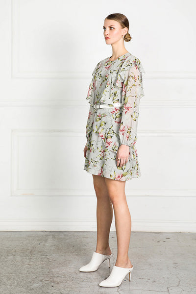 OBTAIN PEARL FLORAL DRESS