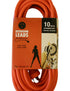 10 metre Orange Heavy Duty 240V Extension Lead