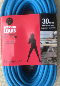 30 metre Blue Heavy Duty 240V Extension Lead