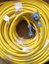 60 meter Yellow 20amp Lead with 10amp plugs Heavy Duty 240V Extension Lead CONTRACTOR
