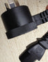 5 metre IEC Black Piggy Back type plug to IEC  Heavy Duty 240V Extension Lead