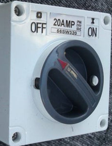 20amp Triple Pole Surface Switch  (56SW320)