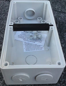 56E2 Mounting Box Enclosure 2 Gang (back box)