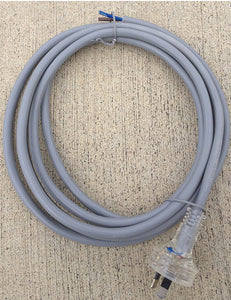 3 metre Grey 2 core (2x1.5mm2) 3 Pin Primary lead