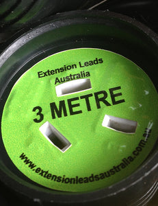 3 Metre colour coded LIGHT GREEN self adheasive lead length Identification   Label for Extension Leads used in the entertainment industry