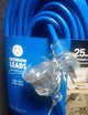 25 metre Blue 15amp Heavy Duty 240V Extension Lead