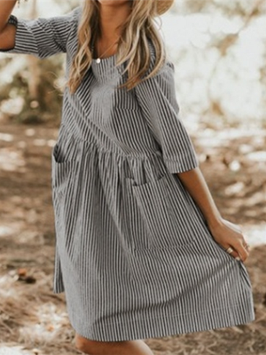 527a8951002a93 Crew Neck Women Summer Dresses A-Line Daily Dress – swellshe
