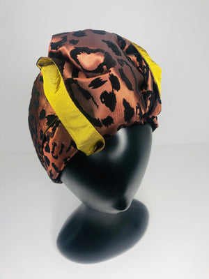 Wild in Copper with a Knot Turban Headband