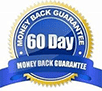 60-day guarantee badge in blue