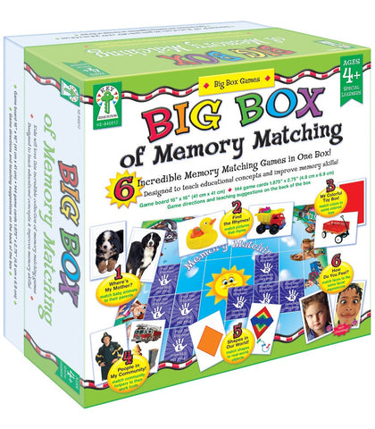 Big Box of Memory Matching Board Game