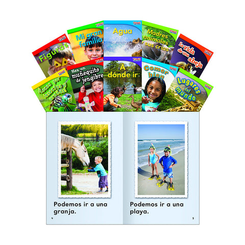 TIME FOR KIDS GR 1 SET 3 10 BOOK SPANISH