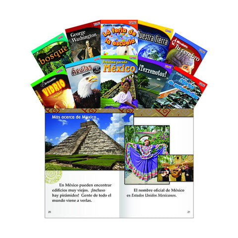 TIME FOR KIDS GR 2 SET 1 10 BOOK SPANISH